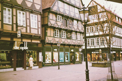 das Hoppener Haus in Celle April 1982