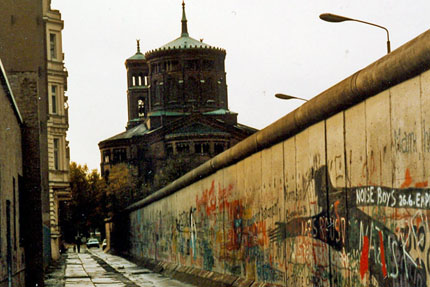 Die Mauer in Kreuzberg November 1985