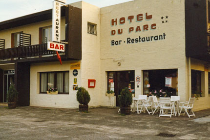 Hotel du Parc in Mimizan Plage September 1978