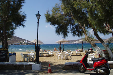 am Strand in Gialos September 2007