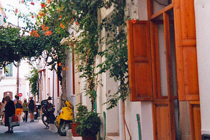 Gasse in der Altstadt September 2001
