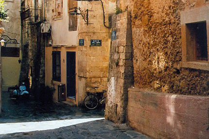 Gasse in Chania September 2004