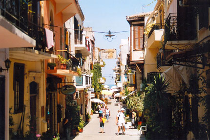 Strasse in Chania September 2004