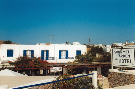 unser Hotel in Mykonos Stadt September 1997