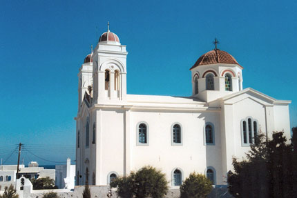 Panagia-Kirche in Naoussa September 1997