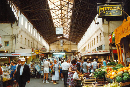 in der Markthalle in Chania Juni 1992