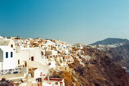 in Oia auf Santorin September 1997