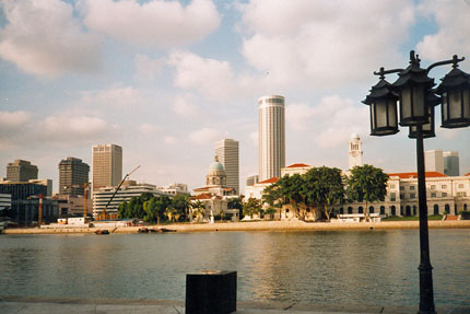 Singapore River und Skyline 1996