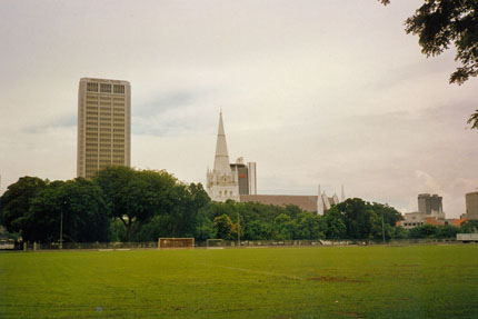 Cricket Platz un Skyline 1991