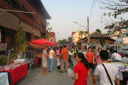 Walking Street in Lampang Februar 2016