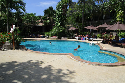 der Pool im Sunrise Tropical Resort Februar 2018