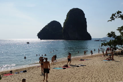 am Phra Nang Beach Februar 2018