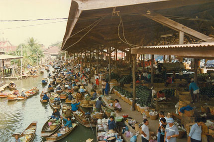 Floating Market in Damnoen Saduak 1991