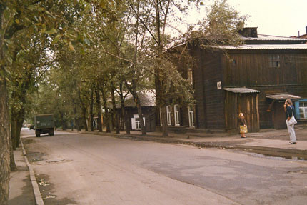 Strasse in Irkutsk September 1987