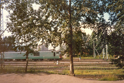 Eisenbahn in Irkutsk September 1987