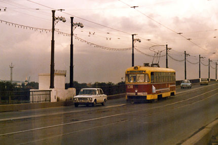 Strassenbahn in Irkutsk September 1987