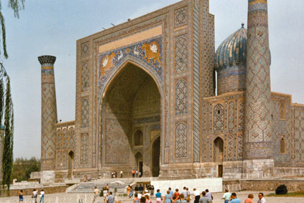 Sher-Dor-Medrese am Registan in Samarkand September 1987