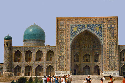 Tilya-Kori-Medrese am Registan in Samarkand September 1987